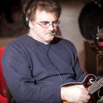 Dave Bellenoit recording mandolin